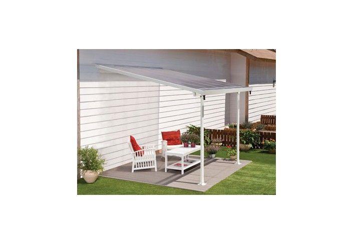 toit terrasse aluminium blanc