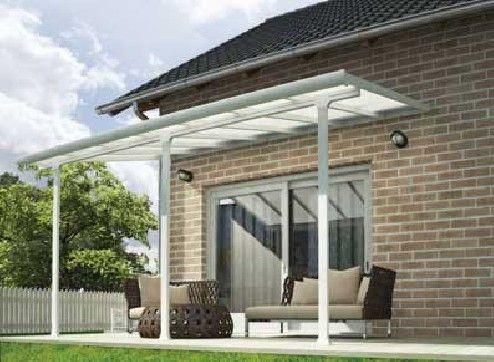 abri terrasse aluminium blanc