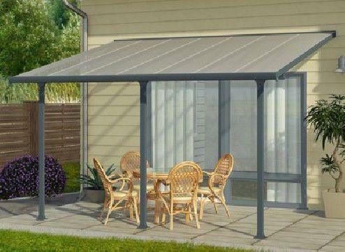 abri terrasse aluminium gris