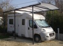 abri camping car toit rond 4,3 x 8,6 m