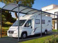 abri camping car métal design