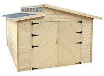 Grand garage bois madrier 28 mm