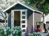 Chalet jardin peint 28 mm