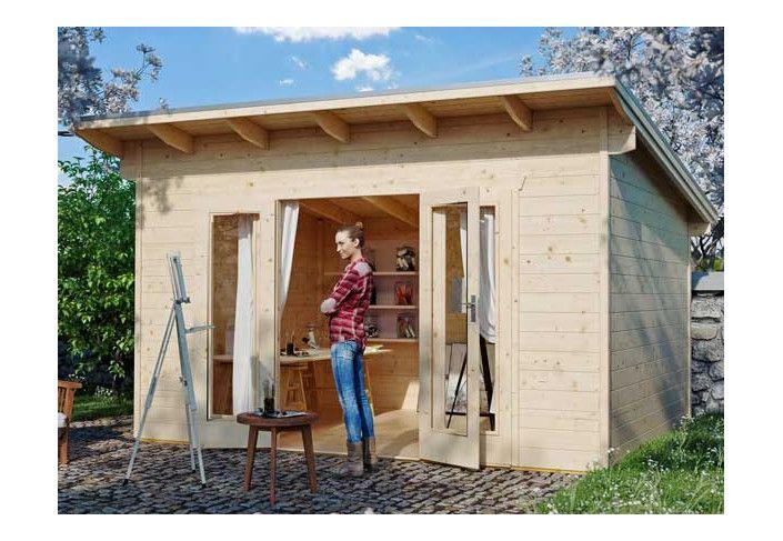 Abri jardin madrier 28 mm - 18m2
