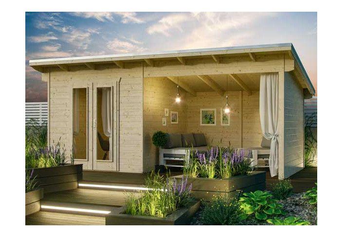 Abri avec terrasse couverte