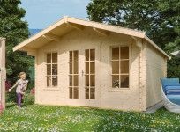 Abri jardin bois double porte 45 mm