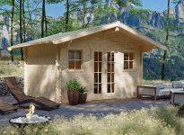 Abri jardin madriers 45 mm toit à chevrons