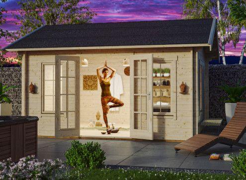 Abri jardin madriers 45 mm double porte