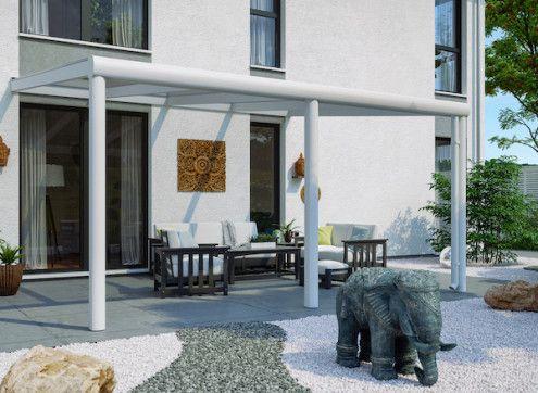 Toit terrasse en alu et polycarbonate