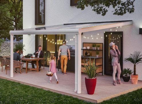 Abri terrasse adossée en aluminium