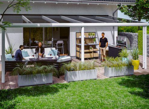 Abri terrasse adossé en aluminium