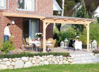 Abri terrasse en bois adossé