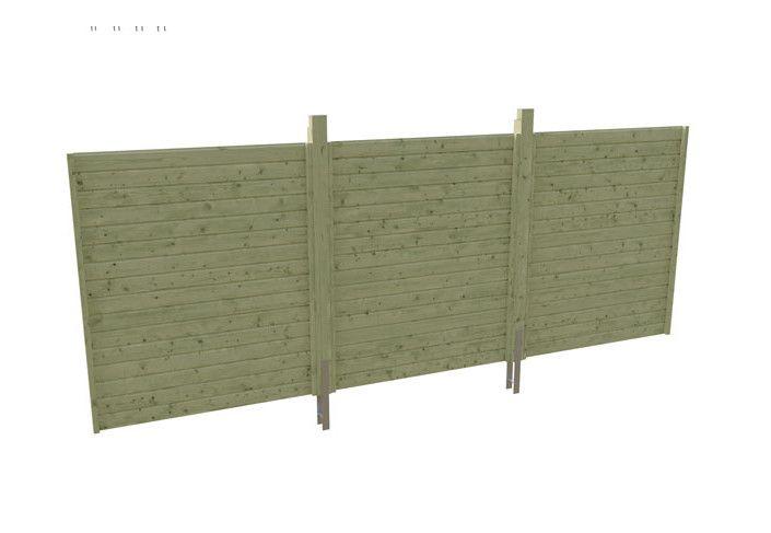 OPTION PAROI ARRIERE L 550 x Ht 200 cm