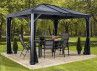 Kit rideaux pour pavillon aluminium SJ02200 - 2.96x2.96m