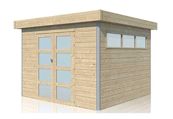 Abri cubique toit acier 8.70 m2