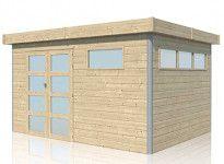 Abri cubique toit acier 14.39 m2