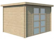 Abri bois toit acier 7m2