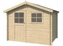 Chalet bois toit acier - 6m2