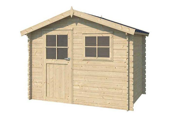 Chalet bois 28 mm d'épaisseur, toit acier - 6m2