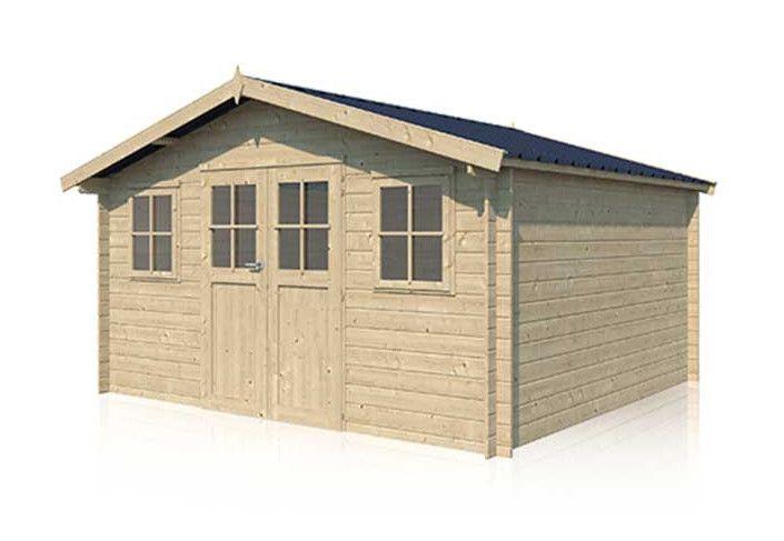 Chalet bois toit acier - 14m2