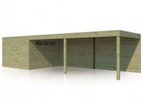 Abri combiné bois traité 30m2
