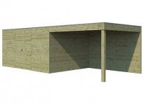 Abri combiné bois traité 20 m2