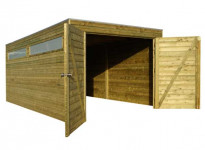 Garage bois traité 15m2