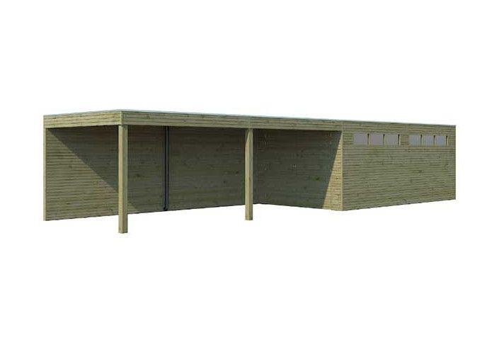 Garage bois traité 22m2