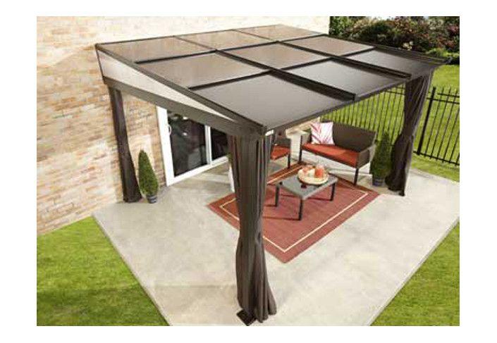 Pergola alu toit rétractable 11 m2