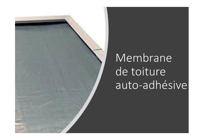 Option membrane auto-adhésive pour toit plat en bois - 4 rouleaux