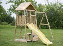 Mur d'escalade et balançoire pour enfants