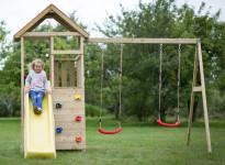 Jeux pour enfants avec balançoire et table