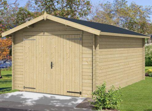 GARAGE bois brut madriers 28 MM - 17 m2