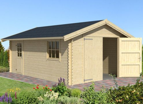 GARAGE bois avec shingle - 22 m2