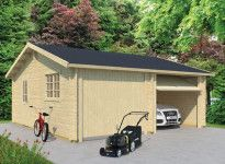 GARAGE DOUBLE EN BOIS 44 MM - 35 m2