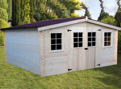 abri jardin bois 28 mm 17 m²