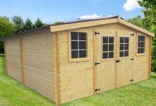 abri de jardin en bois 28 mm 21 m²
