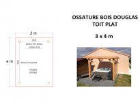 OSSATURE DOUGLAS TOIT PLAT 12m2