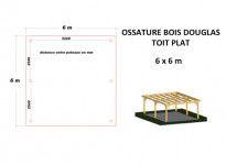 OSSATURE MOISÉE EN BOIS DOUGLAS TOIT PLAT 36m2
