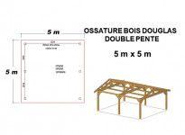 OSSATURE DOUGLAS DEUX PENTES SYMÉTRIQUES 25m2