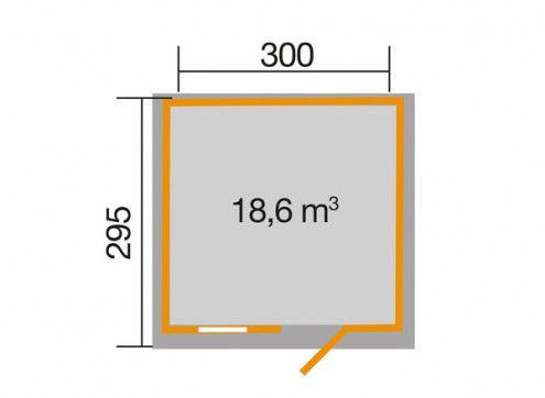 Abri de jardin premium avec plancher 300 x 295 cm