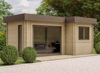 Bureau de jardin toit plat