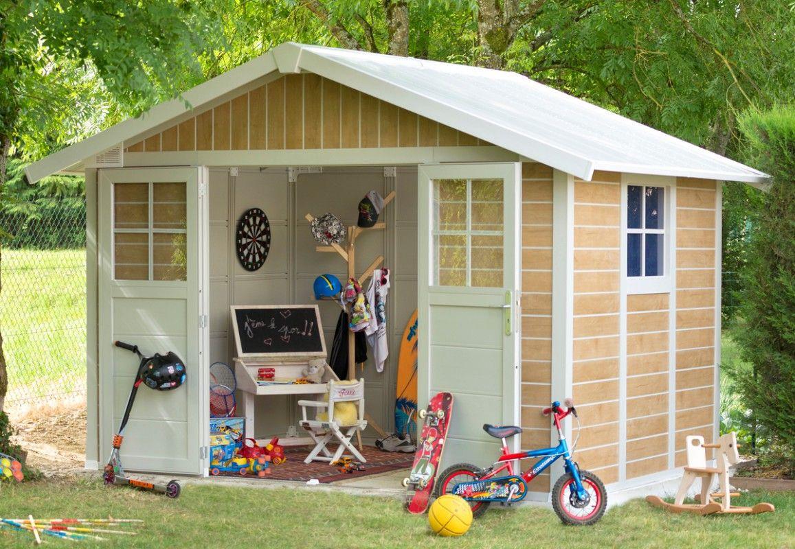 abri de jardin pvc grosfillex deco 7 5 sherwood. Black Bedroom Furniture Sets. Home Design Ideas