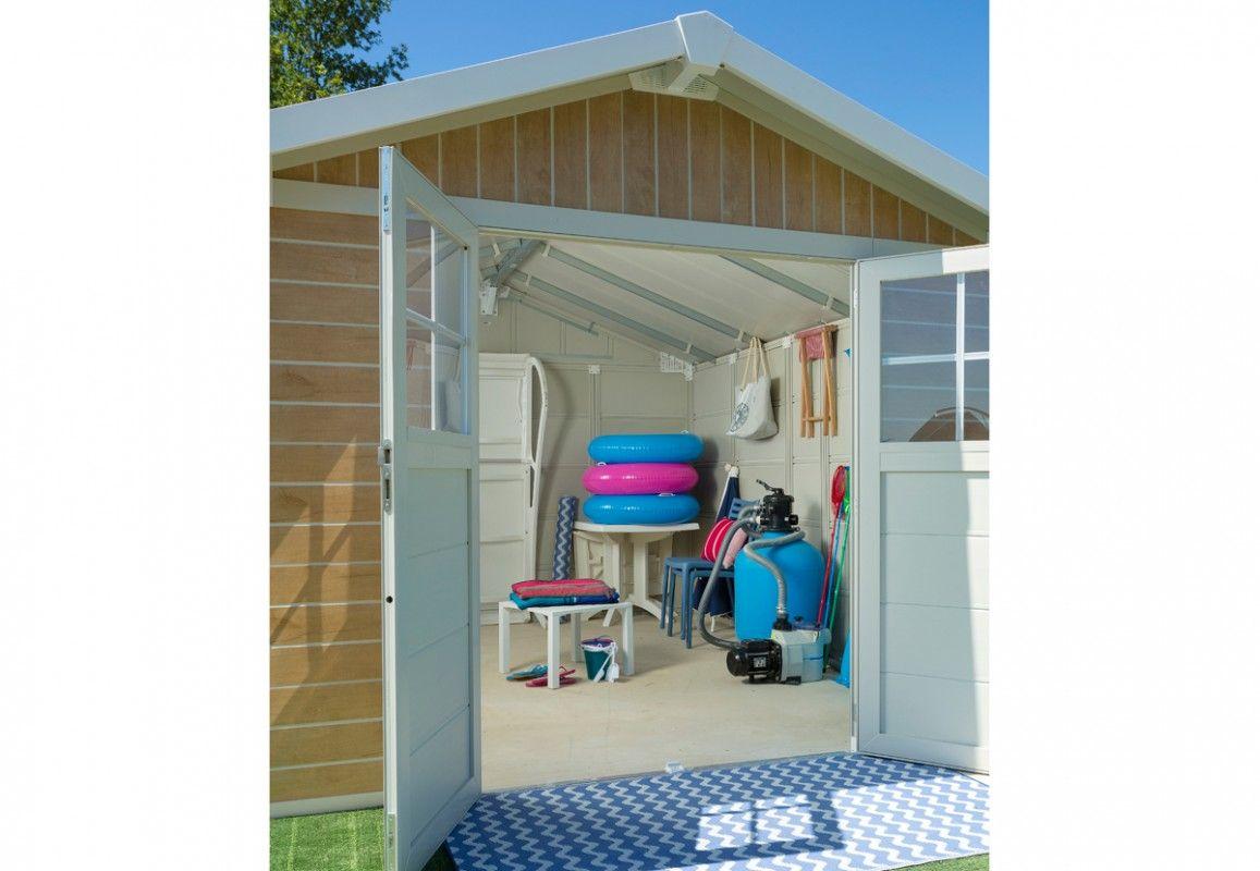 abri de jardin pvc grosfillex deco 11 sherwood. Black Bedroom Furniture Sets. Home Design Ideas