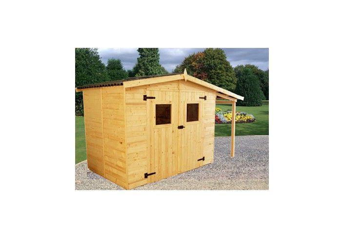 abri jardin bois 16 mm et extension