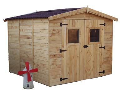 abri jardin panneaux bois 16 mm 5,60m2