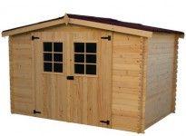 abri jardin bois 20 mm porte double