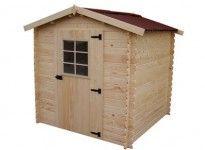 Abri jardin en bois madriers épaisseur 28 mm