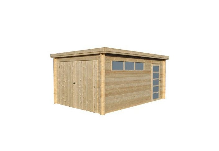 GARAGE EN BOIS MADRIER 28 MM