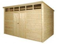 abri jardin bois 28 mm toit skylight